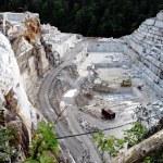 Quarry of white marble, Ruschita, Romania — Stock Photo