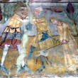 Stock Photo: Ancient fresco, murals in Ghelinta