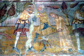 Ancient fresco, murals in Ghelinta — Stock Photo