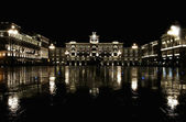 Italy, Trieste, piazza Unita d'Italia by night — Stock fotografie