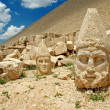 Heads of the statues on Mount Nemrut in Turkey, UNESCO - Stock Photo