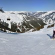 Ski resort panorama in the Austrian Alps — Stock Photo