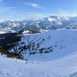 Ski resort panorama in the Austrian Alps — Stock fotografie