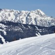 Winter in Zell am See ski resort, Austrian Alps - Stock fotografie