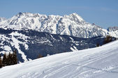 Winter in Zell am See ski resort, Austrian Alps — Stock Photo