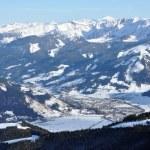 Ski resort Zell am See, Austrian Alps at winter — Stock Photo #9531200