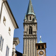 Salzburg church tower, Austria - Stock Photo