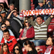 Supporters of CFR Cluj, Romania at a soccer game — Stock Photo
