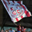 Supporters of CFR Cluj, Romania at a soccer game — Stock Photo #9591179