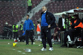 Entrenador p. grigoras en un partido de fútbol rumano — Foto de Stock