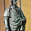 The statue of Friedrich Schiller in Salzburg, Austria - Stock Photo