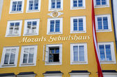 Birthplace of the composer Mozart in Salzburg, Austria — Stock Photo