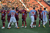 Beginning of FC Otelul Galati - FC CFR Cluj match — Stock Photo