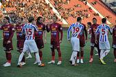 Beginning of FC Otelul Galati - FC CFR Cluj match — Stock Photo