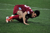 Soccer player suffered an accidentation — Stock Photo