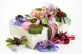 Gift-wrapped sweets — Stock Photo