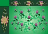 Abstrait ornement floral avec roses — Vecteur