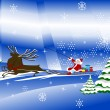 Royalty-Free Stock Vektorgrafik: Santa Claus with christmas deer and presents