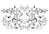 Abstract black floral ornament — Stock Vector