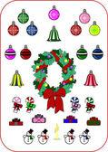 Jul och nyår samling — Stockvektor
