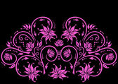 Abstract floral ornament in pink color — Stock Vector