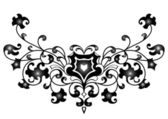 Abstract ornament in black color — Stock Vector