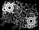 Abstrait blanc et gris — Vecteur