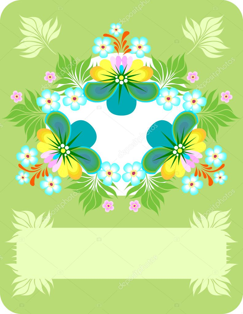 Illustration of abstract floral background — Stock Vector #9688539