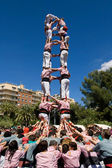 Catalan human pyramid — Stock Photo