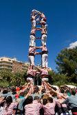 Catalan human pyramid — Stock Photo