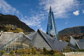 Glass building in Andorra — Stock Photo