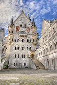 Neuschwanstein courtyard — Stock Photo