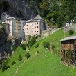 Medieval Predjama castle — Stock Photo