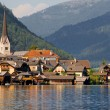 Hallstatt lakeside — Stock Photo