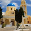 Stock Photo: Yellow greek church