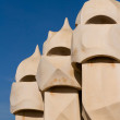 Detail of the roof of La Pedrera — Stock Photo #9210797