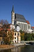 Saint Vitus church in Cesky Krumlov — Stock Photo