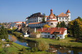Castle and Chateau, Jindrichuv Hradec — Stock Photo