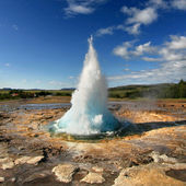 éruption de strokkur — Photo
