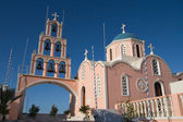 Pink greek church — Stock Photo