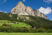 Sassongher from Corvara in Badia — Stock Photo