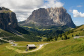 Sassolungo from Passo Gardena — Stock Photo