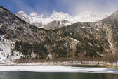 Frozen lake in the Pyrenees — Stock Photo