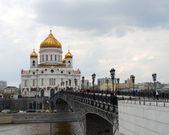 Cristo la iglesia del salvador en moscú, rusia — Foto de Stock