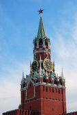 Moscow Kremlin Spasskaya tower. — Stock Photo