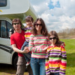 Family vacation in camping, motorhome trip — Stock Photo #10434214
