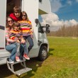Family vacation in camping, motorhome trip — Stock Photo #10434323