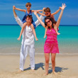 Family beach vacation, summer — Stock Photo