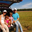 Stock Photo: Family car trip on summer vacation