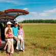 Family car trip on summer vacation — Stock Photo #8968188